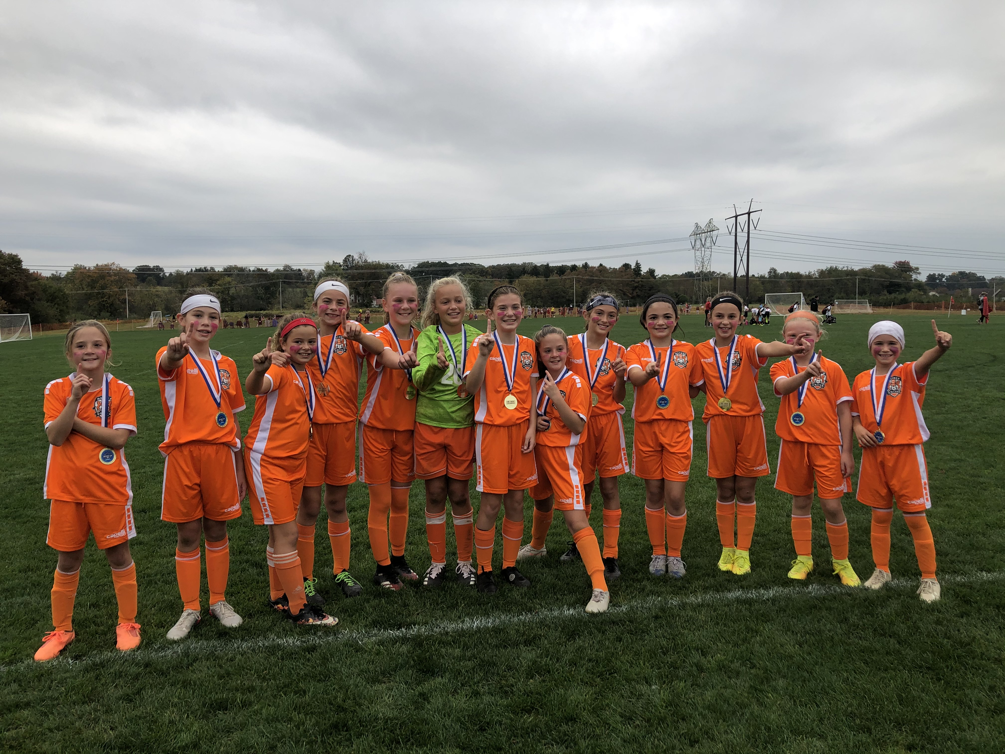 The NU2010 Girls Team claim FIRST place at the Columbus Day Explorer Cup